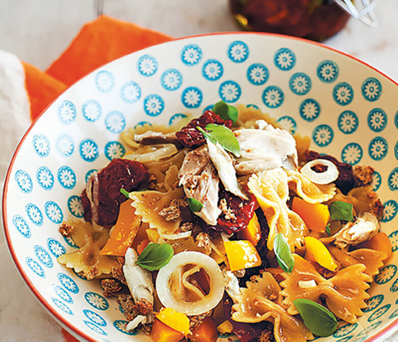 Ginger-flavoured Mackerel and Pepper Pasta