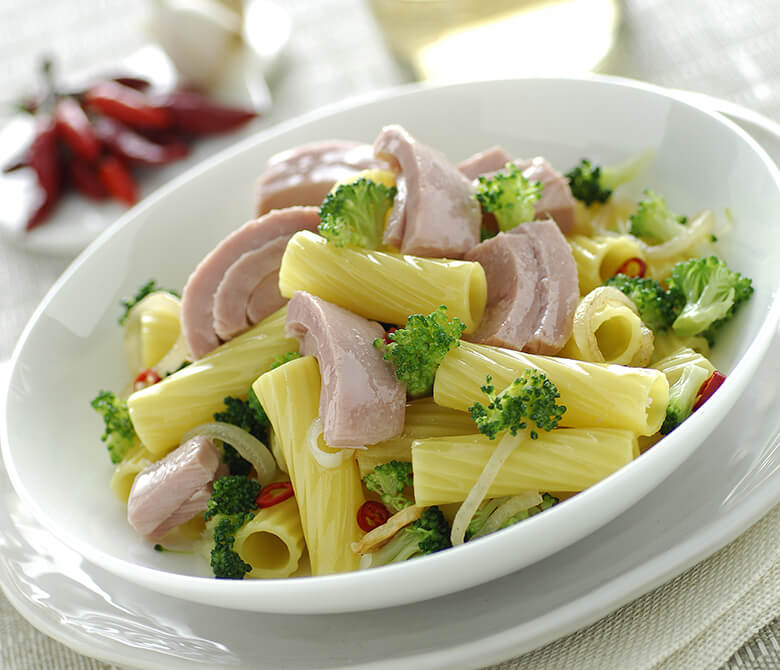 Macaronis 'alla pugliese' au thon et brocoli