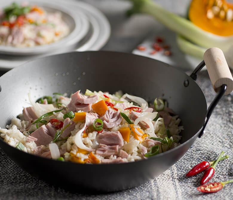 Wok-fried Basmati Rice with Tuna and Pumpkin