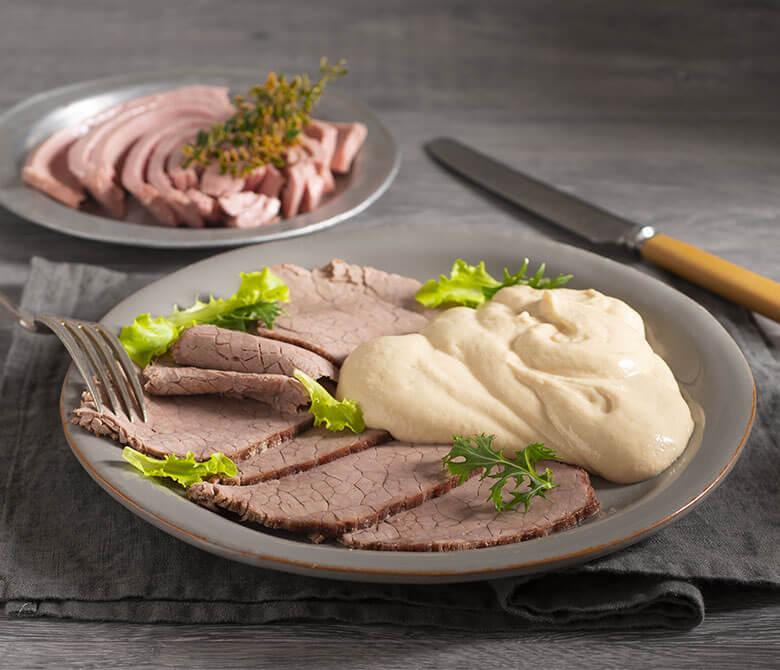 Vitello Tonnato (veau avec sauce au thon et aux câpres)