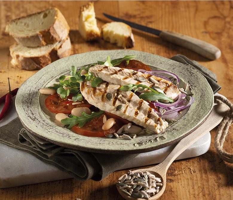 Filets de maquereaux grillés avec salade rustique